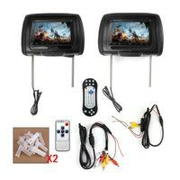 Wholesale screen headrest car dvd resale online - 2x HD Car DVD Digital Headrest Monitor USB TV IR SD Video HDMI Game DVD Player