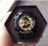 китайские часы оптовых-2018 Мужские роскошные спортивные часы с металлической коробкой открытый многофункциональные наручные часы G мужские часы ударные часы из Китая kol saati