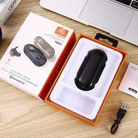 radio bluetooth solar al por mayor-Mini TWS4 inalámbrica Bluetooth 5.0 auriculares estéreo Auriculares Auriculares JB auricular del deporte en la oreja impermeable con el zócalo de carga para el coche Samsung