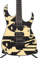 Wholesale signature hardware for sale - Group buy 1997 Ib JPM100 P3 John Petrucci Signature Picasso Cream Electric Guitar Floyd Rose Tremolo Locking Nut Black Hardware