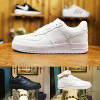 diseño de zapatos de los hombres blancos al por mayor-2019 Nike Air Force 1 one airforce Shoes Hombres Zapatos Forzados Bajos Transpirables Unisex 1 Knit Euro Design Air High Women Todo Blanco Negro Rojo Moda Casual Shoes