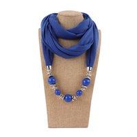 colliers pièce de déclaration achat en gros de-2019 Multi-style bijoux déclaration collier pendentif foulard tête foulards femmes Foulard Femme accessoires Hijab magasins livraison gratuite