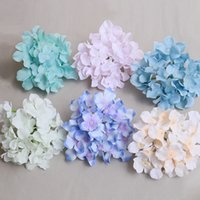 Wholesale purple wall lighting for sale - Group buy 50pcs cm Wedding Decoration Artificial Hydrangea Flower Head DIY Flower Wall Arch Background Fake Flowers Party Supplies