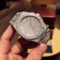 мужские роскошные часы с бриллиантами оптовых-TW роскошные мужские часы авто механические часы оригинальные складные часы пряжка полный ручной набор алмаз 41 мм