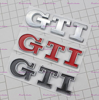 plastik 3d aufkleber großhandel-3D GTI Logo Emblem Decal Stamm Aufkleber für VW Volkswagen Jetta Polo Golf 6 7
