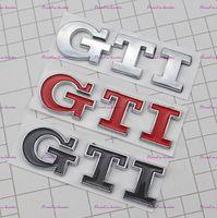 ingrosso adesivi in plastica 3d-3D GTI Logo Emblem Decal Trunk Sticker per VW Volkswagen Jetta Polo Golf 6 7