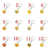 ingrosso portachiavi faccina-EUBFREE 30pcs 19Designs Smiley collana Emoji pendenti sorriso portachiavi migliori amici regali Faccina portachiavi gioielli pendan regalo