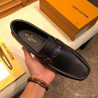 Wholesale famous footwear resale online - 20ss men dress business shoes pointed toe luxury brands famous tassel italian footwear male formal flats fashion oxford shoes men YETC3