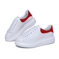 Wholesale black dress sneakers resale online - 2018 Designer Shoes white black height increase Women Men Sneakers Casual Shoes Solid Colors Men Womens Sneakers Dress Shoeize