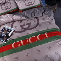 Wholesale luxury king beds resale online - Luxury Bedding Set King Size Fashionable High End Duvet Cover Queen Classic Twin Full Single Double Soft Bed Cover With Pillowcase