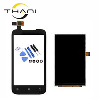 сенсорный экран дисплея lcd телефона оптовых-Thani Quality Black A369 LCD Display +Touch Screen Digitizer For Lenovo A369 A369i A369t Mobile Phone Sensor Repair Parts+tools