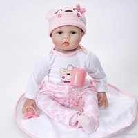 Wholesale newborn baby girl princess clothing resale online - Soft Body Lifelike Princess Girl Reborn Doll Inch Realistic Silicone Real Touch Newborn Babies Toy With Clothes Kids Birthday Xmas Gift