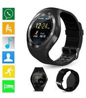iphone akıllı cep telefonu toptan satış-Y1 smart smartwatch android smartwatch için Samsung cep Telefonu İzle bluetooth ile apple iphone için perakende paketi ile U8 DZ09 GT08