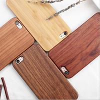 étui iphone plus en bois achat en gros de-Cas de téléphone de luxe gravure en bois de couverture en bois sculpté en bois de la nature pour Iphone X XS Max XR 8 6 Plus 7 Samsung S6 S7 S8 S9 S10 Lite Note 9 8
