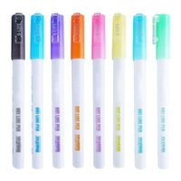 Wholesale color diy painting for sale - Group buy Fluorescent Marker Double Line Student DIY Creative Candy Color Hand Copy Newspaper Painting Account Mark Greeting Card Pen l29k