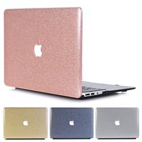 imac pro laptop venda por atacado-Bling bling laptop case para apple macbook ar pro retina 11 12 13 15 imac com logotipo buraco frente e verso pc case