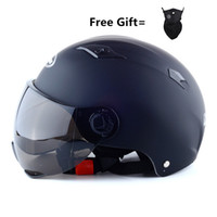 Wholesale black visor for motorcycle helmet for sale - Group buy Universal Motorcycle Half Face Summer Helmet Sun Shield Retro Visor Lens For Helmet Film for size to matte black