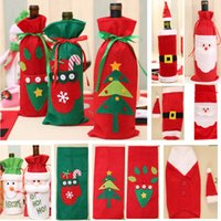 Wholesale santa claus clothes for sale - Group buy Christmas Wine Bottle Decor Santa Claus Snowman Deer Bottle Cover Bag Case Clothes Kitchen Decoration New Year Xmas Dinner Party HH7