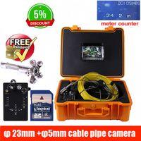 industrielle rohr inspektion kamera großhandel-50m DVR-Rohr-Wand-Abwasserinspektionskamera-System, Kabel der industriellen Rohr-Auto-Video-Inspektions-23mm Kamera 5mm