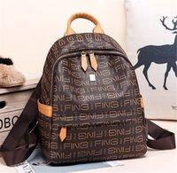 preppy style vintage kadın omuz çantası toptan satış-Tasarımcı Preppy Stil Yeni Moda Kadın Sırt Çantası Pu Deri Retro Kadın Okul çantaları Genç Kız Seyahat Kitapları Sırt Çantası Omuz Çantaları 4