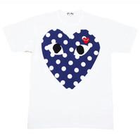 ingrosso magliette stampate divertenti-Maglietta degli uomini caldi di vendita 2019 Maglietta del progettista di modo di estate Maglietta di lusso Manica corta Tees Heart Print Funny Top Tees
