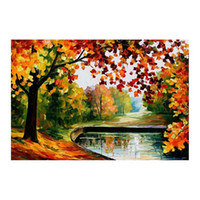 Wholesale oil landscapes painting knives for sale - 24 quot x36 quot Pallet knife Canvas oil painting hand painted forest path living room sofa background wall decoration painting European painting