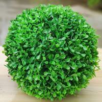 künstliche grasbälle großhandel-Künstliche Grüne Kunststoff Pflanze Gras Ball 10/18/23 cm Grüne Kugel Für DIY Indoor Outdoor Dekoration Hochzeit