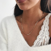 Wholesale coin womens jewelry for sale - Group buy 2019 New boho Necklace For Women Gold Filled Figaro Rope Snake Curb Cuban Link Chain Choker Necklace Womens Fashion Jewelry
