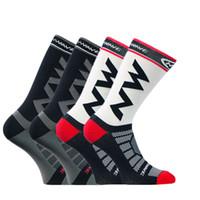 носки велосипедные для мужчин оптовых-Новый Спорт Открытый Велоспорт Носки Мужчины Бег Носки Дышащий Удобные Велосипеды Сжатия