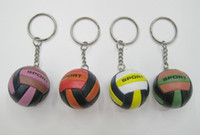 Wholesale bag advertisement resale online - 20pcs Volleyball bag Pendant mini volleyball gift plastic small Ornaments sports advertisement souvenirs