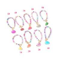 Wholesale cloisonne beads for charm bracelets resale online - Woman Bohemian Color Shell Bracelet Visco Shell Girl Beads Bracelets Crystal Beads Charm Bangle for Woman Man Gifts