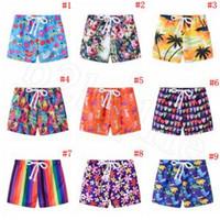 planches de natation pour enfants achat en gros de-Enfants Imprimé Shorts 13 Styles D'été Casual Plage Enfants Cordon Conseil Shorts Garçon Pantalon De Maillot De Bain 120pcs OOA6336