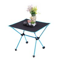 Wholesale portable aluminium table resale online - Table Portable Foldable Desk None Desk Aluminium Alloy Lightweight Barbecue Picnic Table Outdoor Furnishings Supplies