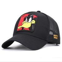 soğutma yaz şapkaları toptan satış-Moda Karikatür Anime Beyzbol Net Kap Yaz Açık Beyzbol Şapkası Seyahat Sokak Gölge Serin Şapka Nakış Baskı Kap