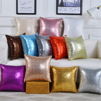 11 colors glitter sequins pillow case solid color cushion home car comfortable decor waist cushions cover pillowcase