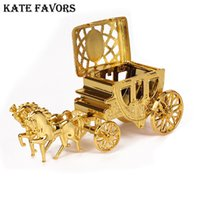 Wholesale gold wedding carriage for sale - Group buy Cinderella Carriage Gold Royal Carriage Box Wedding Candy Box Gift Small Plastic For Event Party Supplies Decoration