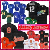 ingrosso baseball henderson-12 Wade Boggs Tampa Bay Jersey Rays Baltimore Retro Mesh Orioles 8 Cal Ripken Jr. 12 Roberto Alomar Maglie da baseball 24 Henderson