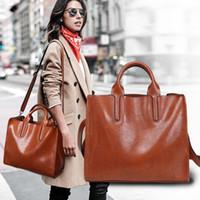 boston çantaları el çantaları toptan satış-Marka Yeni Omuz Çantaları Deri Lüks Çanta Cüzdan Kadınlar Için Yüksek Kalite Çanta Tasarımcısı Tote Messenger Çanta Çapraz Vücut 1346