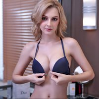 85f745d0d 2019 new Y-shaped front buckle gathered beauty back bra set sexy lace  seamless underwear