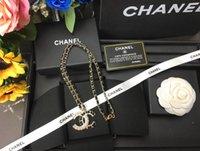 tarjetas de cobre al por mayor-Moda caliente de alta calidad hermoso tamaño clásico oro blanco negro collar de perlas de cobre con cajas de embalaje originales, tarjetas C1904101