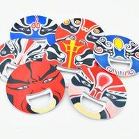 ingrosso souvenir tradizionali-Tradizionale stile cinese Quintessenza Opera di Pechino Fridge Magnet Apribottiglie souvenir Magneti all'ingrosso trasporto veloce ZC1845