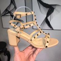 ingrosso tacchi beige t-Sandali firmati Designer Donna Sandali con tacchi colorati Top qualità T-strap Scarpe con tacco alto Ladies Dress Single Shoes con scatola 3A 16
