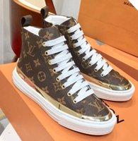 kaliteli yürüyüş botları toptan satış-Son Moda Lüks Bayan Sneakers Tasarımcı Ayakkabı Açık Yürüyüş Botları Trendy Ayakkabı Hakiki Deri Kutusu Ile Yüksek Kalite Tek Gün Ayakkabı