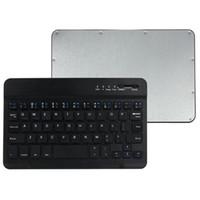 usb ps2 para pc al por mayor-Teclado inalámbrico de aluminio delgado Bluetooth V3.0 Teclado Micro USB 50 para Tablet PC PS2 Pad Andriod TV