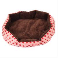 Wholesale dots bedding resale online - wholesales Nice looking Dot Pattern Octagonal Flannelette Cotton Pet Bed Pink S