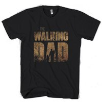 hoodie do paizinho venda por atacado-The Walking Dad Engraçado Homem / Mulher T-Shirt Tees Personalizado camisa de t com capuz hip hop t-shirt jaqueta de couro croatia tshirt