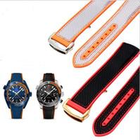 bracelete de g masculino venda por atacado-Cinta de silicone de lona 2020 aplicável hipocampo 8900 série universo marinho soft 20mm 22m masculino pulseira