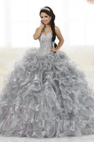 Wholesale heavy beaded evening for sale - Group buy 2018 Gorgeous Heavy Beaded Organza Quinceanera Dresses for Sweet Ball Gowns Sweetheart Ruffles Evening Party Dress