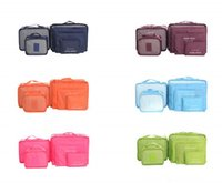 Wholesale stuffed underwear for sale - Group buy 6 Set Travel Home Luggage Storage Bag Clothes Storage Organizer Portable Cosmetic Bags Bra Underwear Pouch Storage Bags Color MMA1208