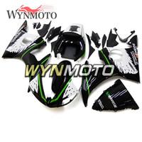 ingrosso kit corpo yamaha r6 bianco-Nero Bianco Verde Nuova carrozzeria per Yamaha YZF-600 R6 Anno 2003 2004 Kit cappottini in plastica completa Rivestimenti per telai R6 03 04